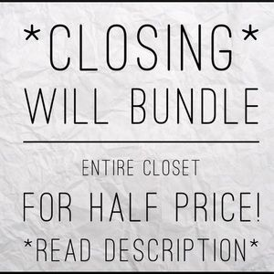 PERFECT TIME TO START YOUR OWN CLOSET!